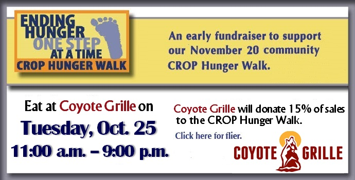 Coyote Grille Fundraiser October 25