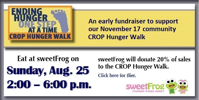 sweetFrog Fundraiser August 27